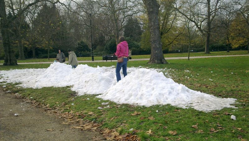Snow in Hyde Park?!