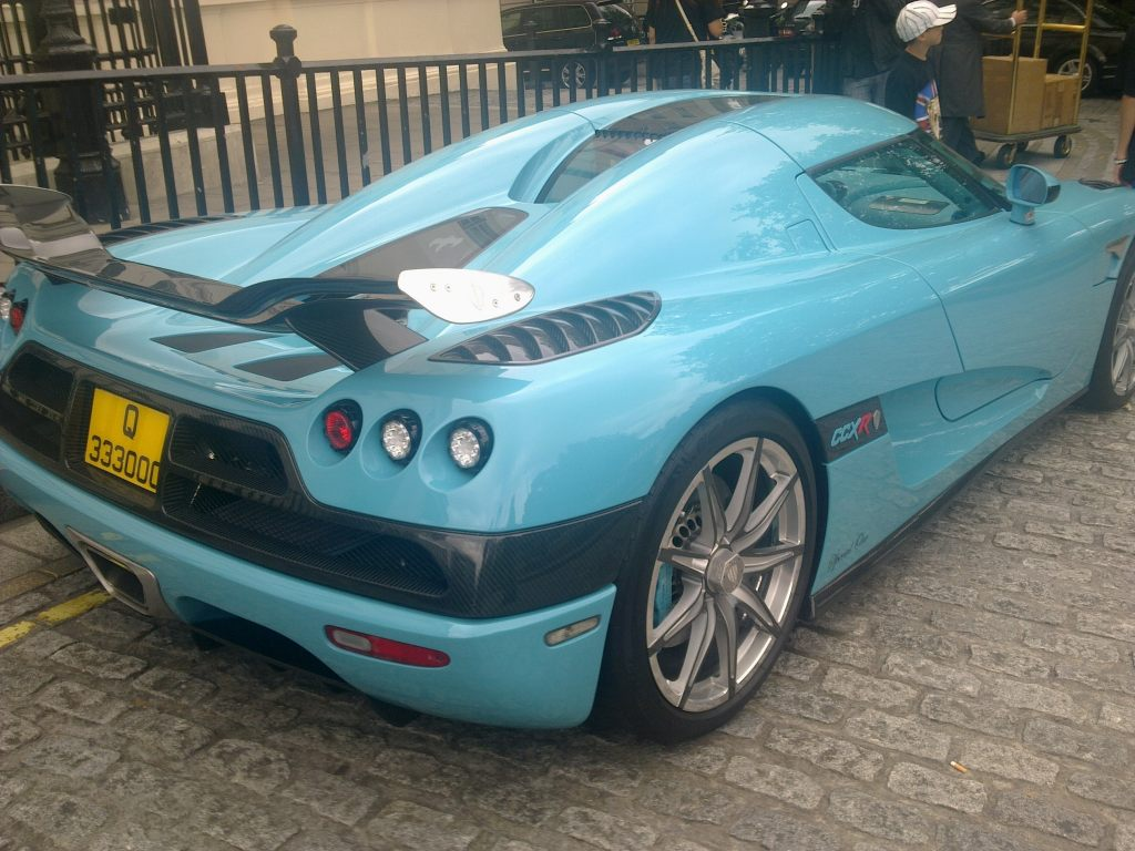 Koenigsegg CCXR - London's most popular car!