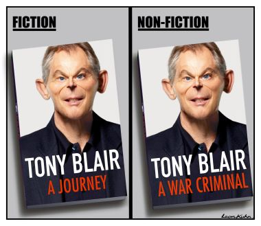 Protest against Blair Book Signing