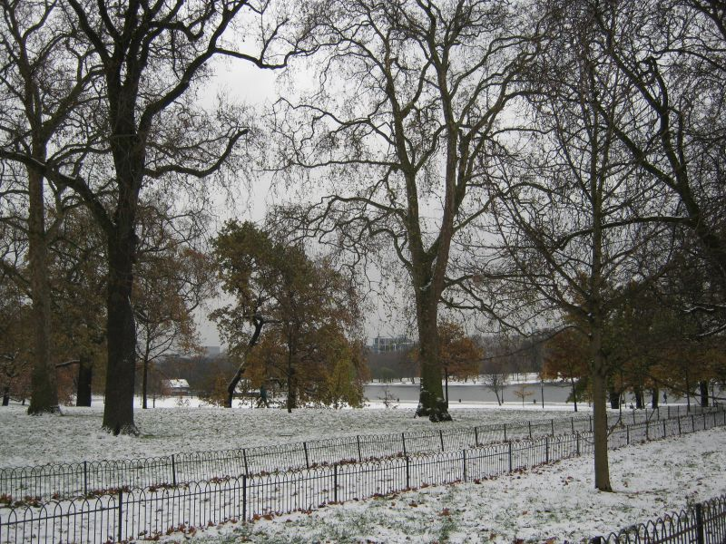Snow in London Town!